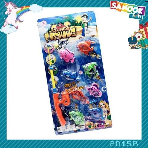 Sanook&Toys ชุดตกปลา #2015B (25.5x52x3 ซม.) คละสี