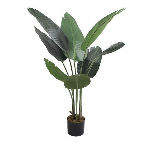 Tree O ต้นกล้วยประดิษฐ์ สูง115ซม. 8LVS พร้อมกระถาง JWT3018 สีเขียว