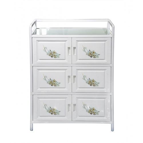 CROWN ตู้อเนกประสงค์สำหรับใช้ในครัว ขนาด 79x41x106 ซม.   Aura สีขาว