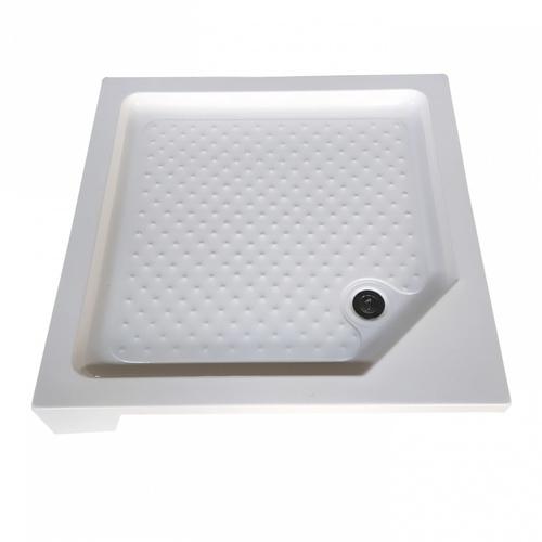Heritage ถาดรองตู้อาบน้ำพร้อมสะดือแบบเข้ามุมเหลี่ยม ขนาด 900x900x150mm. ABS-02  สีขาว