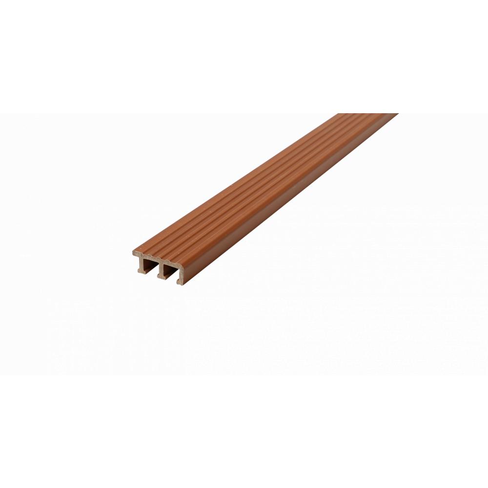 MAC จมูกบันได PVC ขนาด 45/1.5m GM-45-LBN สีน้ำตาลทอง น้ำตาล-ทอง